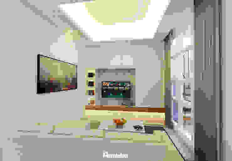Living Room Ruang Keluarga Modern Oleh Mendekor Modern Kayu Buatan Transparent