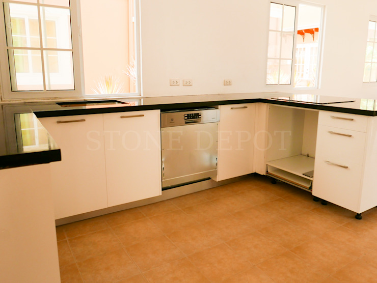 Absolute Black Granite Kitchen Countertop in Panglao Island by Stone Depot Modern