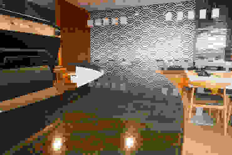 Black Galaxy Granite Bar Counter at Ichiban Shabu-Shabu SM Seaside by Stone Depot Modern