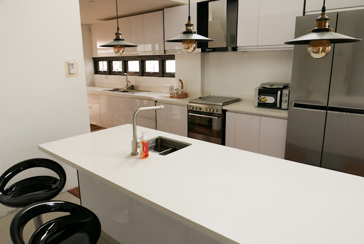 Moonstone Quartz Kitchen Countertop in Carmen, Cebu by Stone Depot Modern