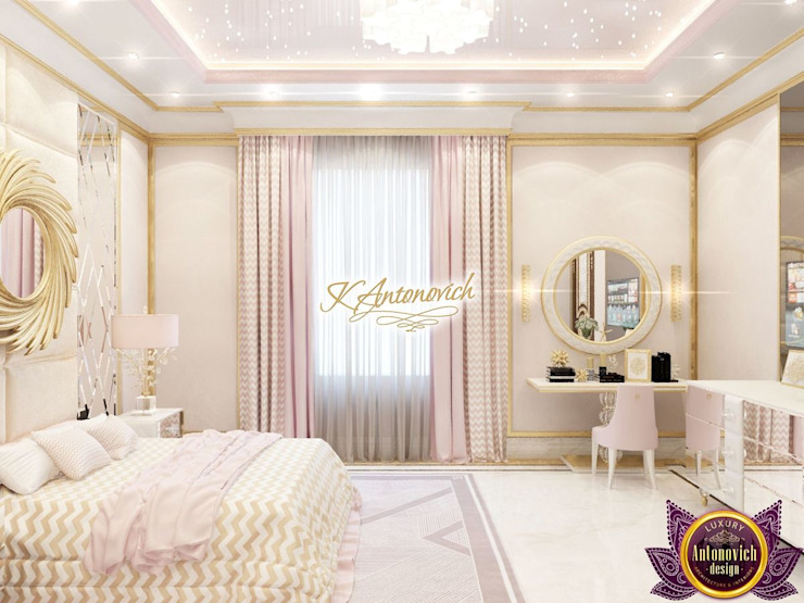 ​Fashionable interior design 2018 by Katrina Antonovich Modern style bedroom by Luxury Antonovich Design Modern