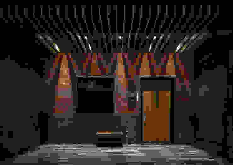 流光 现代客厅設計點子、靈感 & 圖片 根據 漢玥室內設計 現代風 磚塊