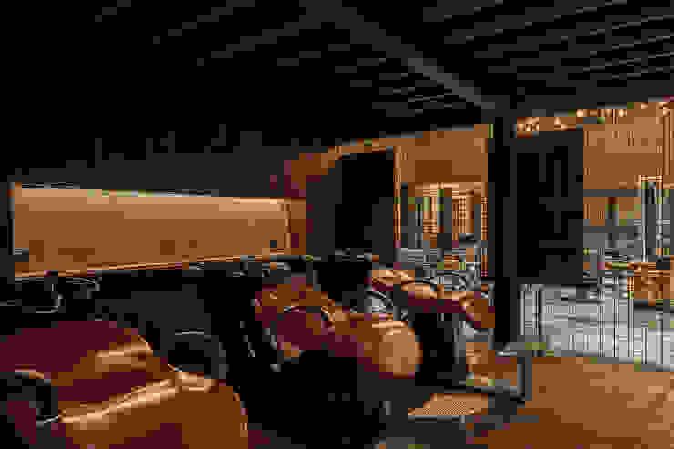 復古風格的洗髮台 根據 漢玥室內設計 工業風 大理石