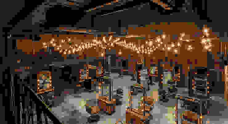 新東方風格混合復古風的髮廊 根據 漢玥室內設計 工業風 塑木複合材料