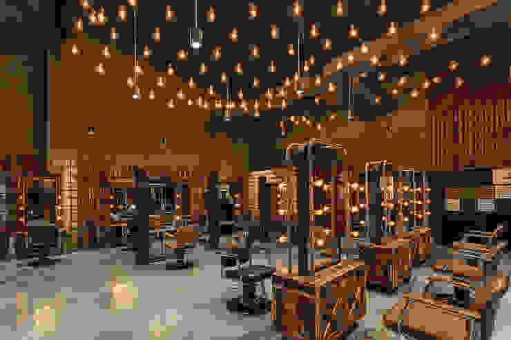 燈海與工作燈兼具 根據 漢玥室內設計 工業風 塑木複合材料