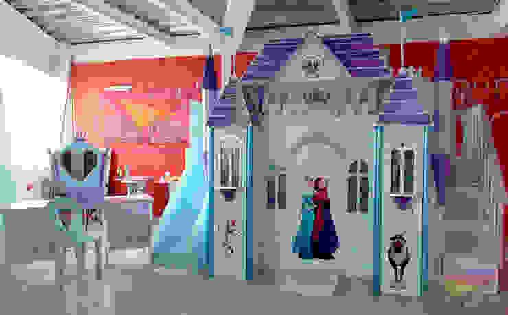 Precioso castillo de Frozen de camas y literas infantiles kids world Clásico Derivados de madera Transparente