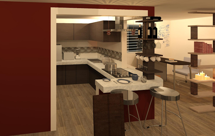 Kitchen by Perfil Arquitectónico,