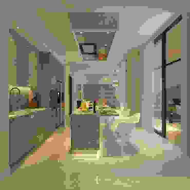 PRIVATE RESIDENTIAL @ NAVAPARK, BSD CITY, TANGERANG Dapur Modern Oleh PT. Dekorasi Hunian Indonesia (DHI) Modern