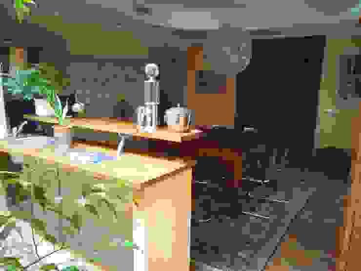 Bar Counter in Baner Bungalow Umbrella Tree Designs Mediterranean style wine cellar