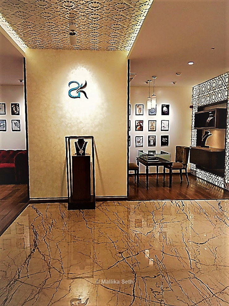 Interiors for a Jewellery Boutique in Bangalore by Mallika Seth Modern