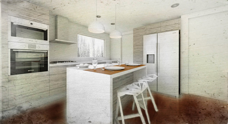 Vivienda Premium 115m2 Fundo Loreto. de Territorio Arquitectura y Construccion - La Serena Moderno