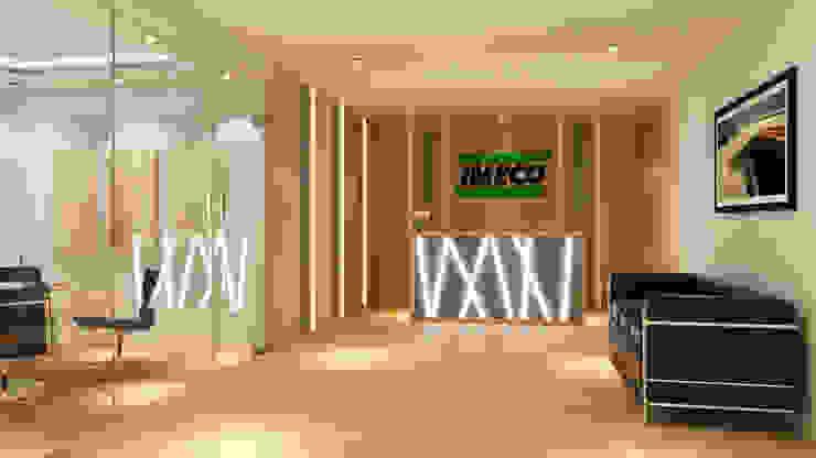 WARM AND OPEN SPACE OFFICE @ SEMANGGI Kantor & Toko Modern Oleh PT. Dekorasi Hunian Indonesia (DHI) Modern