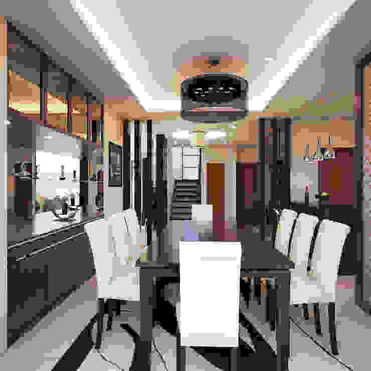 Comedores de estilo moderno de TWINE Interior Design Studio Moderno