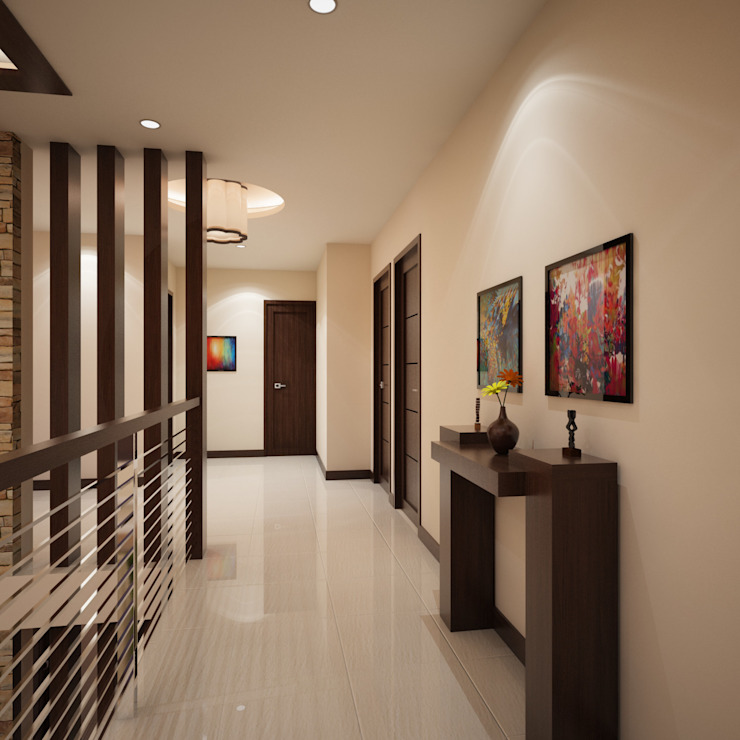 Couloir, entrée, escaliers modernes par TWINE Interior Design Studio Moderne