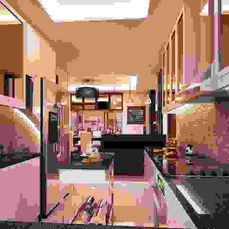 Cocinas de estilo moderno de TWINE Interior Design Studio Moderno
