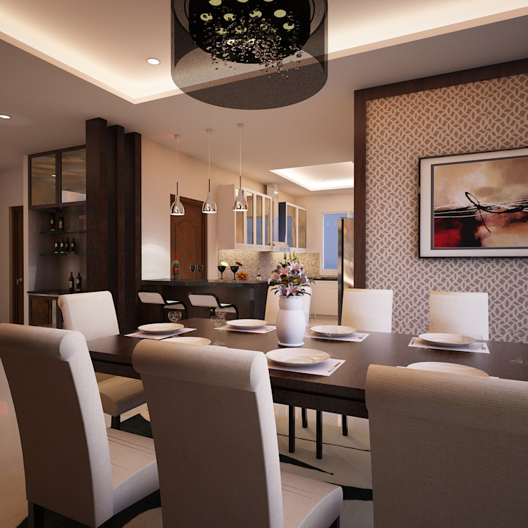 Mr. & Mrs. P Residence Modern dining room by TWINE Interior Design Studio Modern