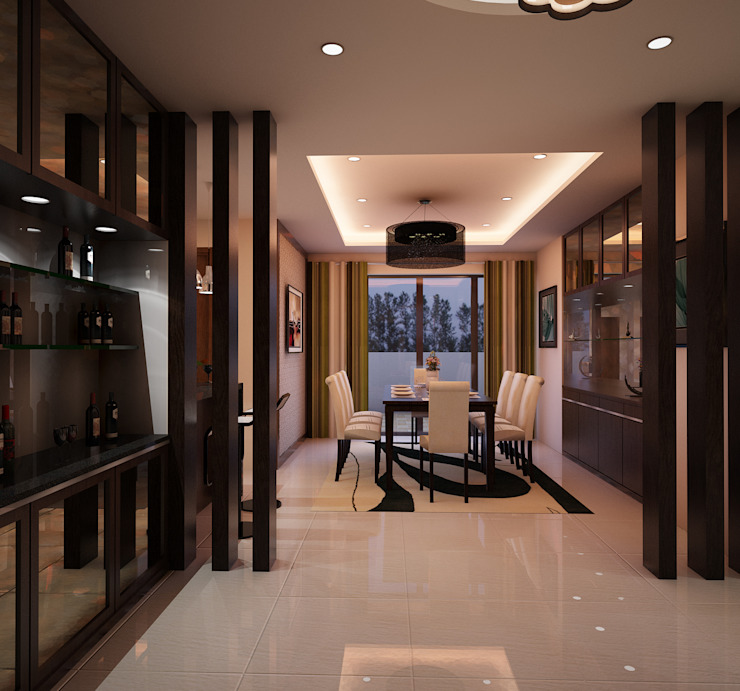 Pasillos, vestíbulos y escaleras modernos de TWINE Interior Design Studio Moderno