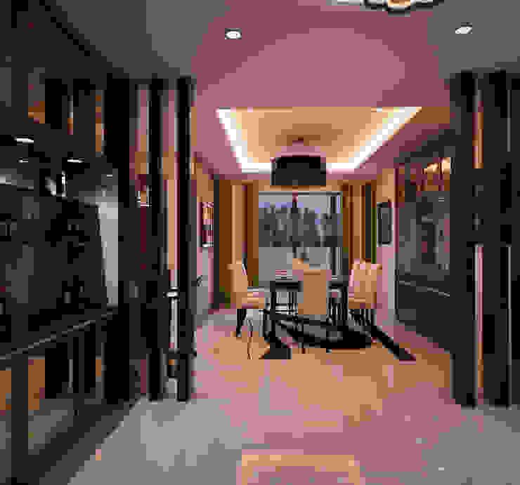 Mr. & Mrs. P Residence Modern Corridor, Hallway and Staircase by TWINE Interior Design Studio Modern