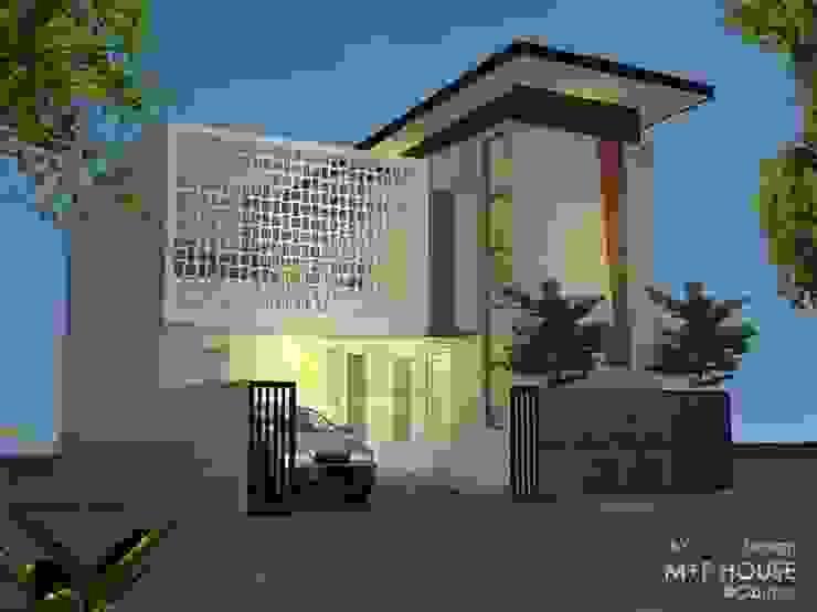 Ekterior Roster Alfaiz Design Rumah tinggal Batu Pasir Grey