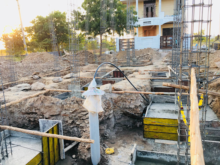 Footing Concrete Works by Cfolios Design And Construction Solutions Pvt Ltd Modern