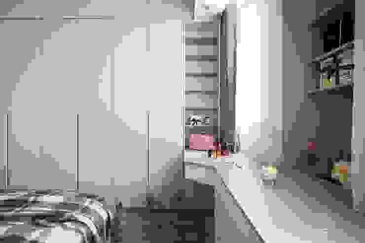 主臥室設計:  更衣室 by 極簡室內設計 Simple Design Studio