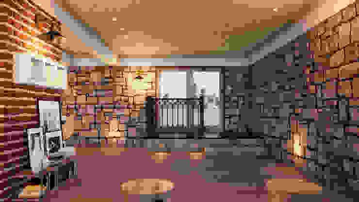 Salas de estilo ecléctico de ORMIGON ARCHI Ecléctico Madera maciza Multicolor