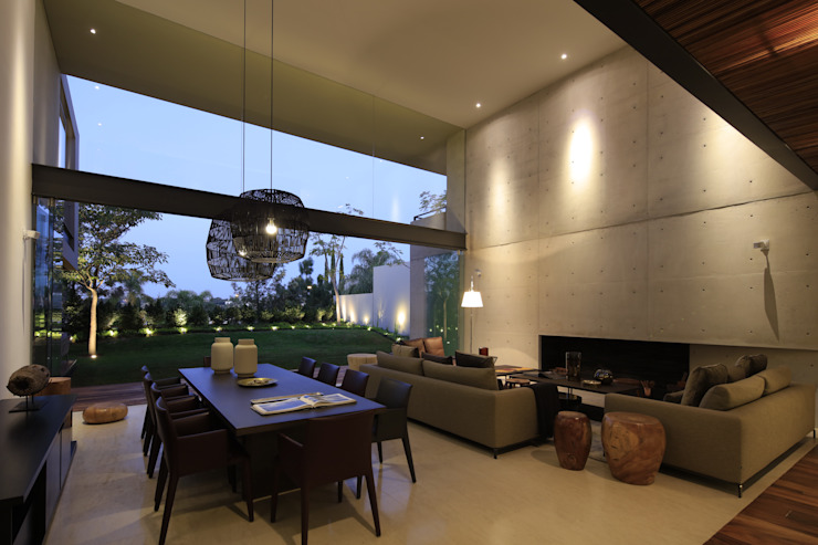 Living room by Hernandez Silva Arquitectos,