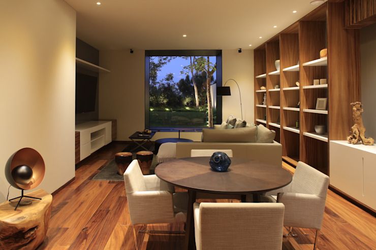 HNN HOUSE Oficinas y bibliotecas de estilo moderno de Hernandez Silva Arquitectos Moderno