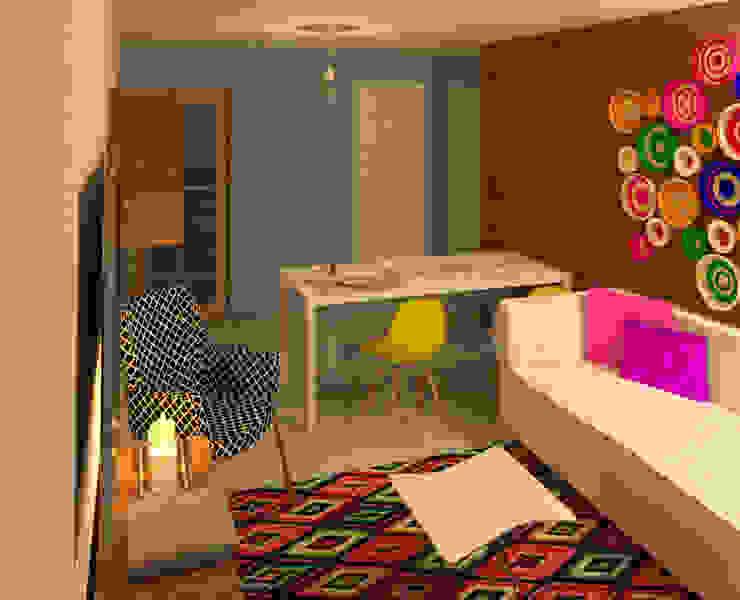 Estudio Salas multimedia de estilo moderno de Perfil Arquitectónico Moderno