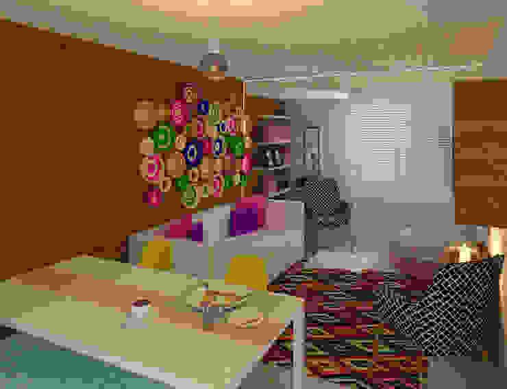 Sala Salas multimedia de estilo moderno de Perfil Arquitectónico Moderno