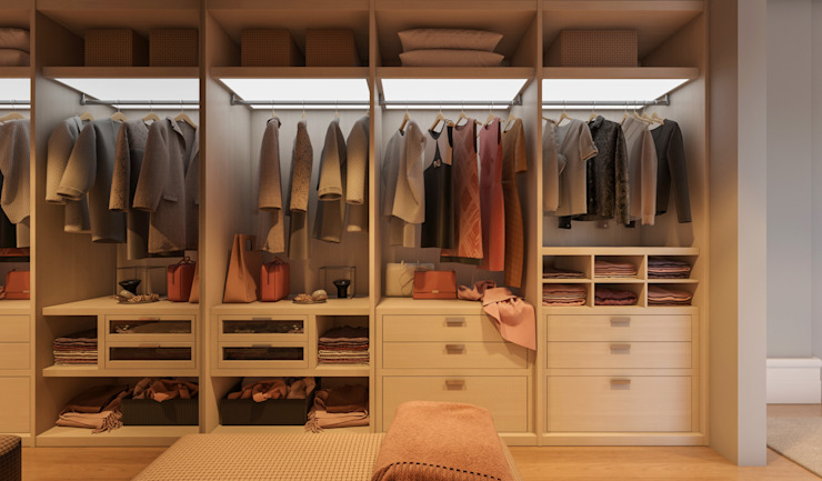 CASA MARQUES INTERIORES Dressing roomWardrobes & drawers