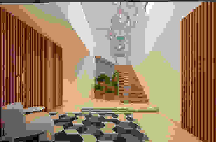 CASA MARQUES INTERIORES Corridor, hallway & stairsLighting