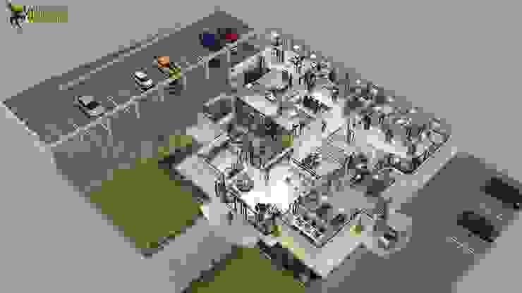Creative Hospital 3d Floor Plan Design Ideas by Yantram 3d floor design Bern by Yantram Architectural Design Studio Modern Concrete