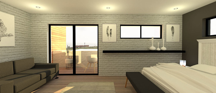 Bedroom by A4AC Architects, Modern Bricks