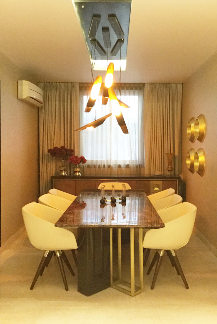 Residence Design, Bhera Enclave H5 Interior Design Eclectic style dining room Amber/Gold