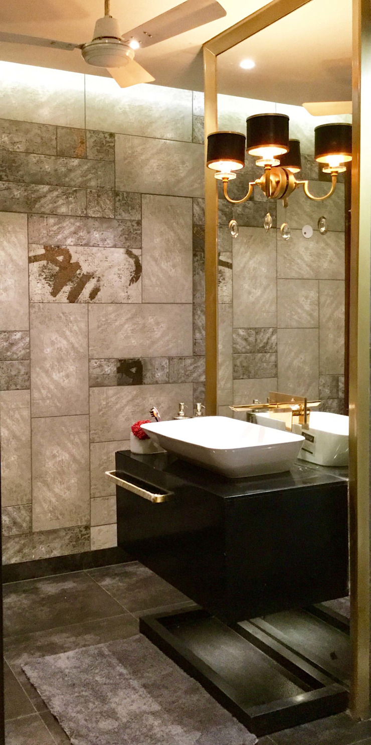 Residence Design, Bhera Enclave H5 Interior Design Eclectic style bathroom Amber/Gold