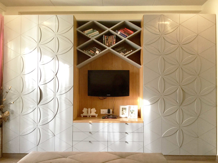 Residence Design, Bhera Enclave H5 Interior Design Eclectic style dressing room Grey