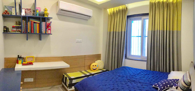 Residence Design, Bhera Enclave H5 Interior Design Eclectic style bedroom Yellow