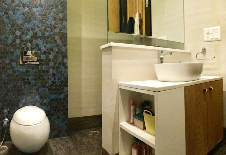 Residence Design, Bhera Enclave H5 Interior Design Eclectic style bathroom White