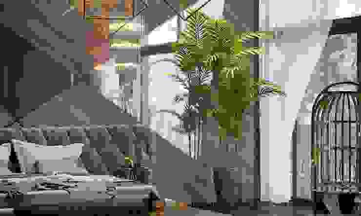 Частный коттедж Спальня в стиле модерн от ЭлитДизайн - студия дизайна интерьера Модерн