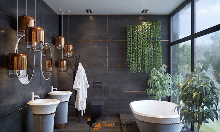 Частный коттедж Ванная комната в стиле модерн от ЭлитДизайн - студия дизайна интерьера Модерн