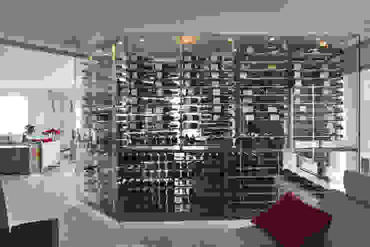 Millesime Wine Racks Modern Home Wine Cellar Aluminium/Zinc Metallic/Silver
