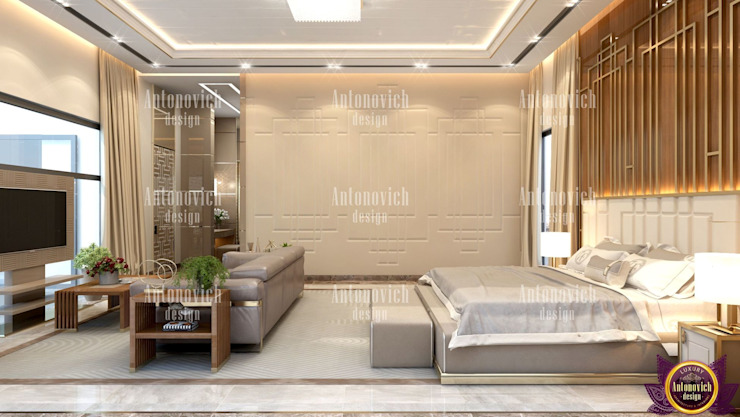​Great modern home designs by Katrina Antonovich Modern style bedroom by Luxury Antonovich Design Modern