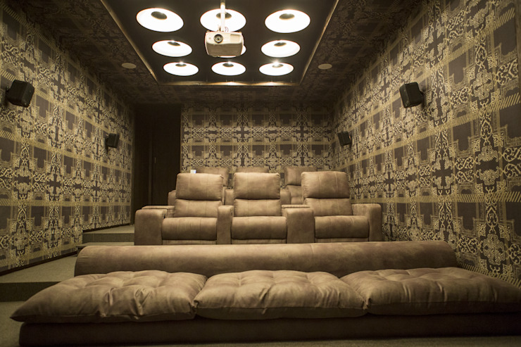 Home theater : view 2 by DESIGNER'S CIRCLE Modern