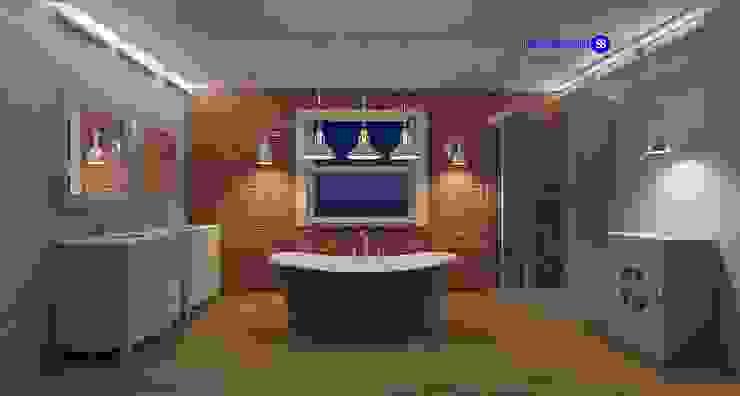Phòng tắm bởi 'Design studio S-8' Công nghiệp