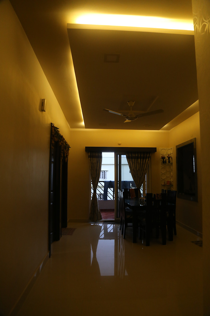 Mr. Gupta Kondapur Naani Modern corridor, hallway & stairs by Ghar Ek Sapna Interiors Modern