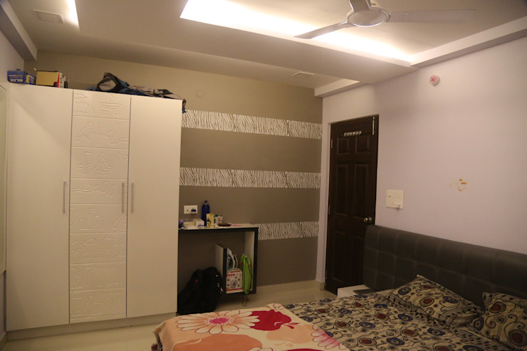 Mr. Gupta Kondapur Naani Modern style bedroom by Ghar Ek Sapna Interiors Modern