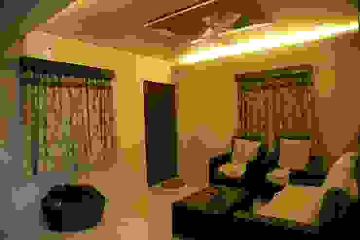 Mr. Gupta Kondapur Naani Modern living room by Ghar Ek Sapna Interiors Modern