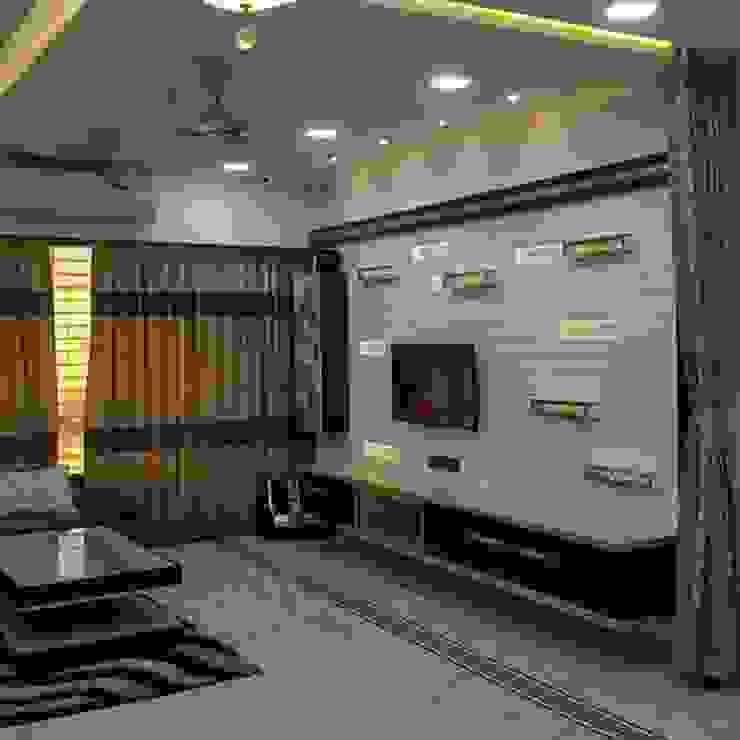 tv unit in Living room Modern living room by KUMAR INTERIOR THANE Modern