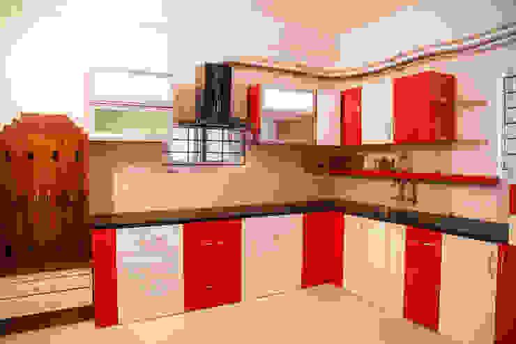 Ms. Shilpa Kondapur Site Modern kitchen by Ghar Ek Sapna Interiors Modern